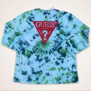 Guess Los Angeles Tie Dye Logo Long Sleeve Shirt